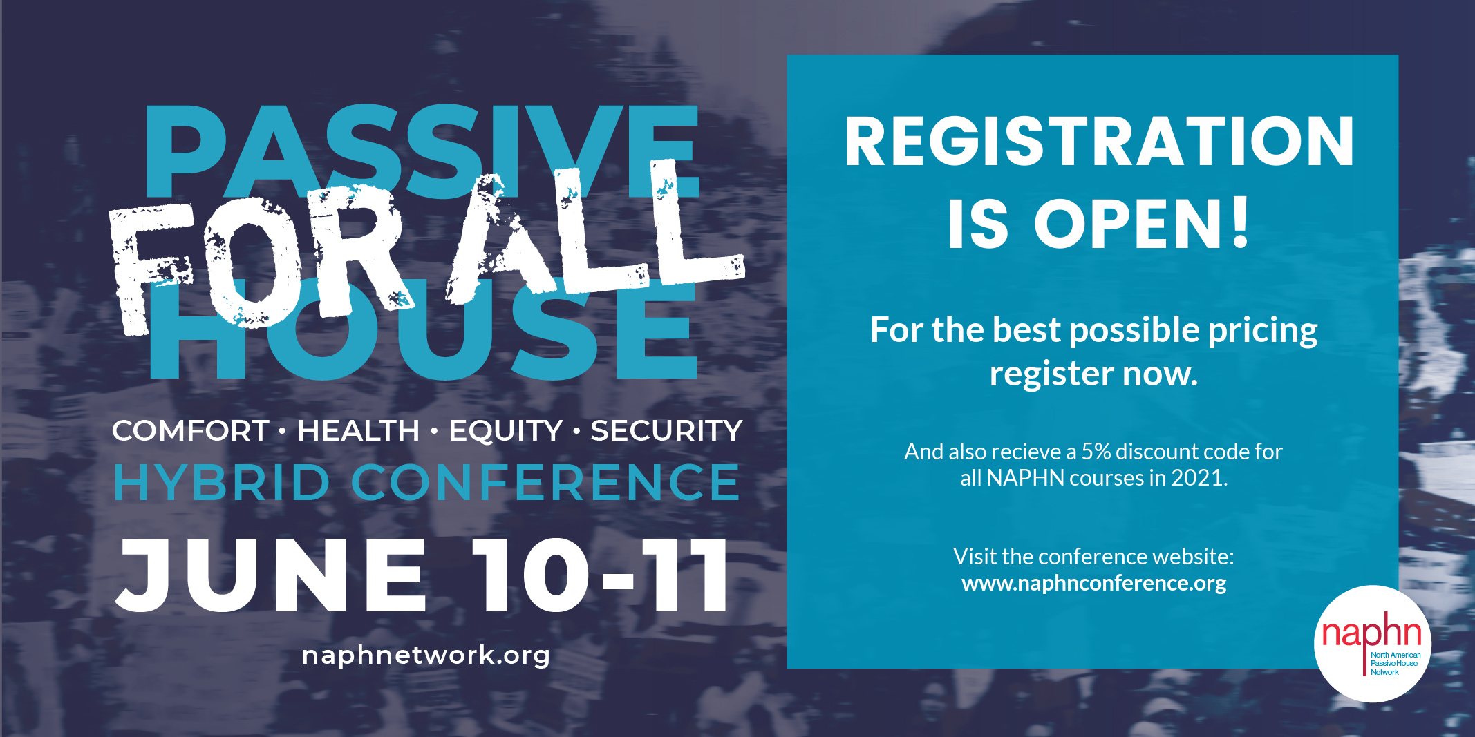 Passive House for All Conference Registration is Open